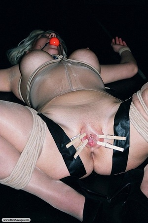 Gagged blonde darling gets through a rea - XXX Dessert - Picture 8