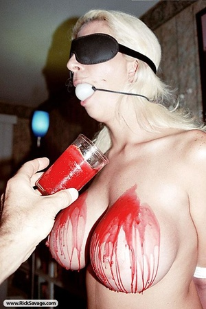 Tied up blonde MILF is ready for a rough - XXX Dessert - Picture 12