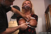 gorgeous blonde woman gets