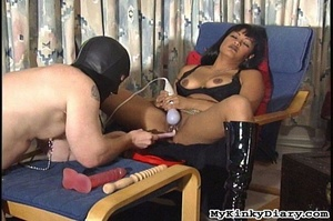 Smoking Asian got pleasured by a vibrato - XXX Dessert - Picture 9