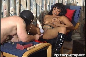 Smoking Asian got pleasured by a vibrato - XXX Dessert - Picture 12