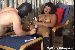 Smoking Asian got pleasured by a vibrato - XXX Dessert - Picture 15