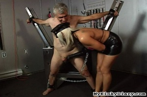 Old man in chains gets tortured by two b - XXX Dessert - Picture 6