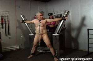 Old man in chains gets tortured by two b - XXX Dessert - Picture 7
