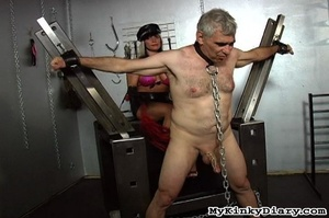 Old man in chains gets tortured by two b - XXX Dessert - Picture 8