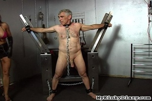 Old man in chains gets tortured by two b - XXX Dessert - Picture 9