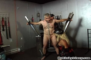 Old man in chains gets tortured by two b - XXX Dessert - Picture 12