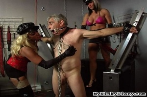 Old man in chains gets tortured by two b - XXX Dessert - Picture 13