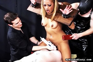 Bondaged blonde and chubby girl get toru - XXX Dessert - Picture 2
