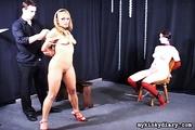 bondaged blonde and chubby