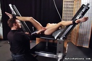 slender woman with clamped