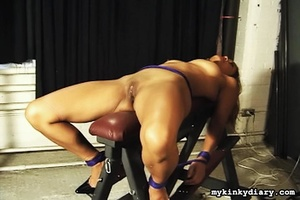 Bindaged lady receives pleasure from man - XXX Dessert - Picture 2