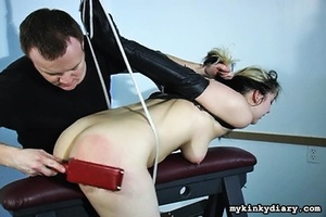 Bounded blonde chick gets wildly spanked - XXX Dessert - Picture 4