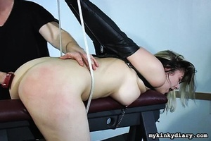 Bounded blonde chick gets wildly spanked - XXX Dessert - Picture 6