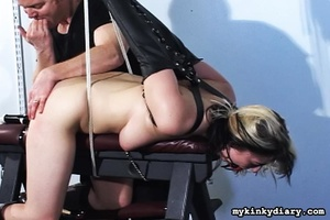 Bounded blonde chick gets wildly spanked - XXX Dessert - Picture 13