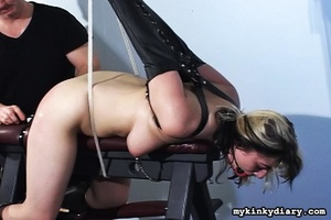 Bounded blonde chick gets wildly spanked - XXX Dessert - Picture 14