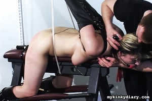 Bounded blonde chick gets wildly spanked - XXX Dessert - Picture 15
