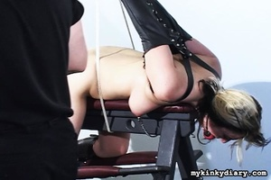 Bounded blonde chick gets wildly spanked - XXX Dessert - Picture 16