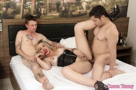 blonde, corset, shemale, transsexual