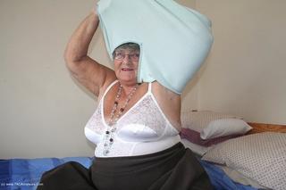 grandma babe takes turquoise