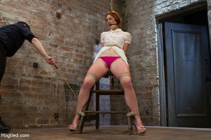 Red haired slave gets fisted in suspensi - XXX Dessert - Picture 5