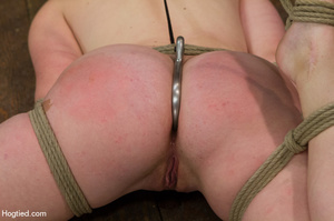 Red haired slave gets fisted in suspensi - XXX Dessert - Picture 8