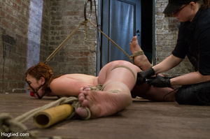 Red haired slave gets fisted in suspensi - XXX Dessert - Picture 9