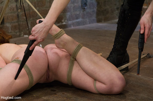 Red haired slave gets fisted in suspensi - XXX Dessert - Picture 10