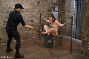 Red haired slave gets fisted in suspensi - XXX Dessert - Picture 12