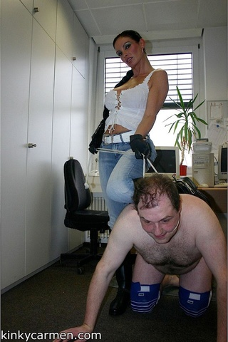 lucky man spanked office
