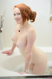 lovely redhead with seductive