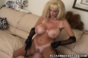 nasty blonde mistress plays