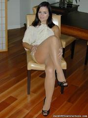 passionate coquette white pantyhose