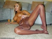 leopard and brown nylons