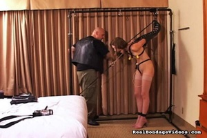 Tied up female can't scream because of g - XXX Dessert - Picture 7