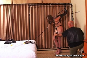 Tied up female can't scream because of g - XXX Dessert - Picture 13
