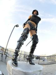 wild hot chick black