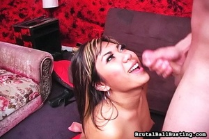 Bitch provokes him to cum in her mouth a - XXX Dessert - Picture 15