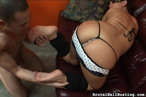 Brunette sucks and bites ex-bf's dick af - XXX Dessert - Picture 6