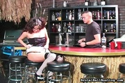 bartender receives amazing blowjob
