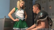 petite blonde cheerleader seduces