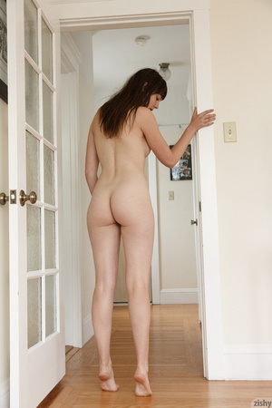Brunette freshie in glasses posing with  - XXX Dessert - Picture 8