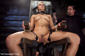 Blonde honey toyed by two creeps wearing - XXX Dessert - Picture 1
