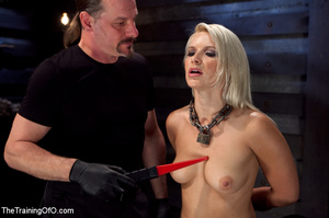 Blonde honey toyed by two creeps wearing - XXX Dessert - Picture 7
