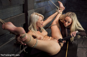 moaning blonde slave vibrated