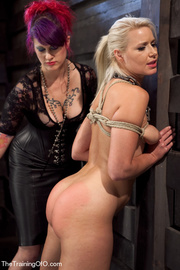 helpless blonde whipped and