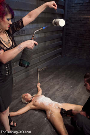 Helpless blonde whipped and waxed by a f - XXX Dessert - Picture 15