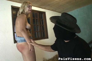 Curvy blonde slut gets spanked in the du - XXX Dessert - Picture 16