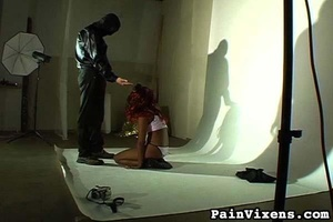 Tied up black gal with nice tits wants s - XXX Dessert - Picture 6