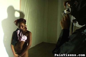 Tied up black gal with nice tits wants s - XXX Dessert - Picture 16